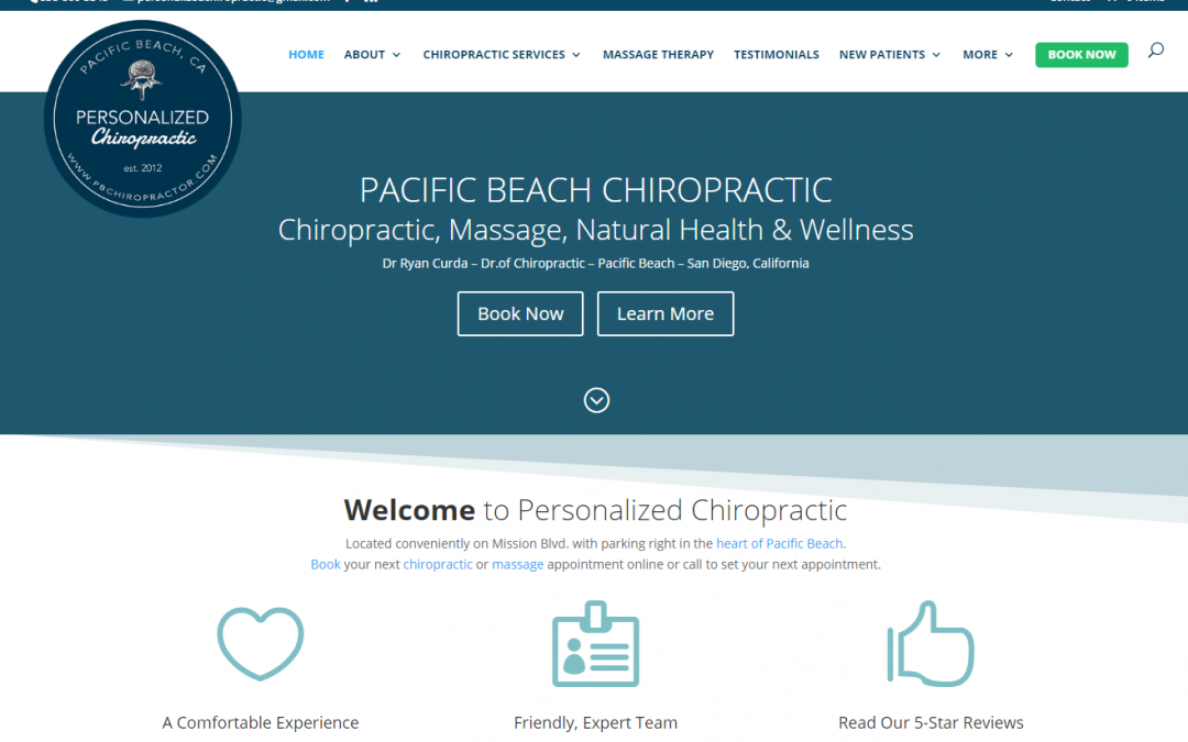 San Diego Chiropractor Launches New Site with RI
